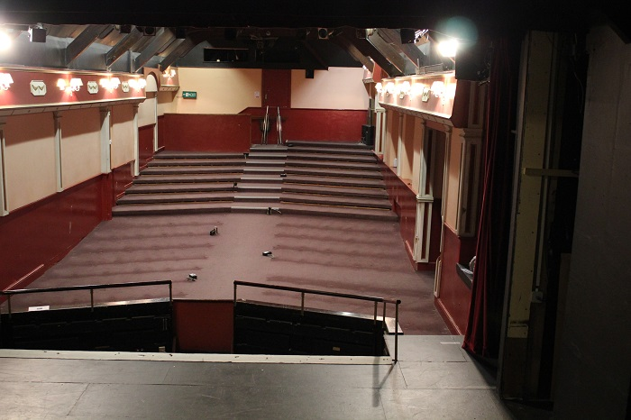 Wells Little Theatre after the old seats had been removed