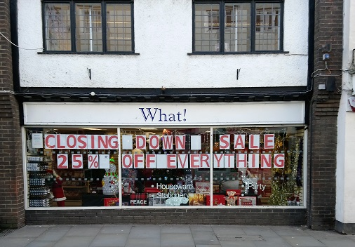 Sixteen jobs to be lost when What! store shuts for last time