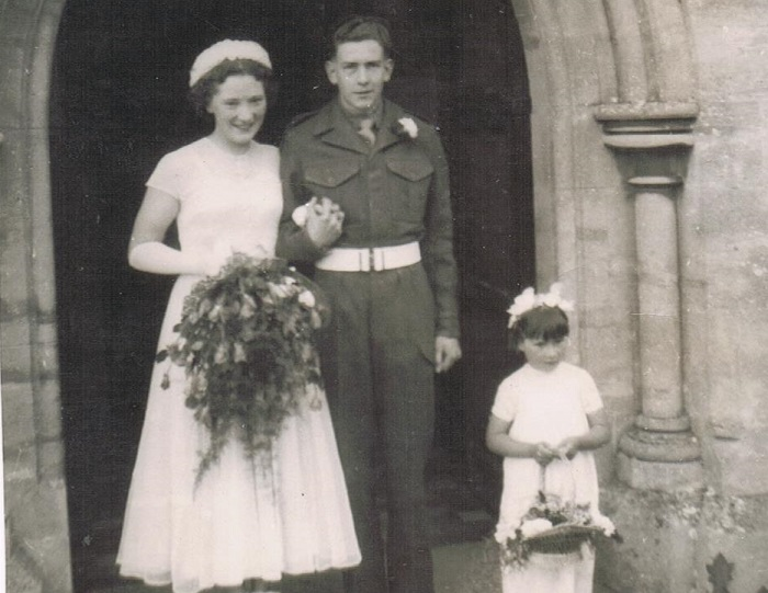John and Kitty on their wedding day in 1950