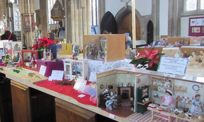 Part of the display by Wells Cathedral City Miniaturist Club at the St Cuthbert's Church Nativity Festival