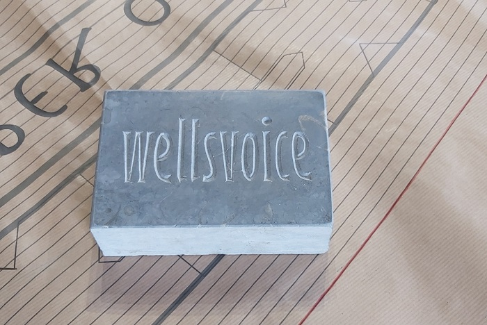 The blue lias stone sponsored by Wells Voice