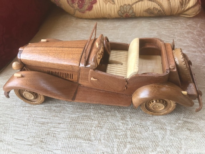 The intricately detailed model car