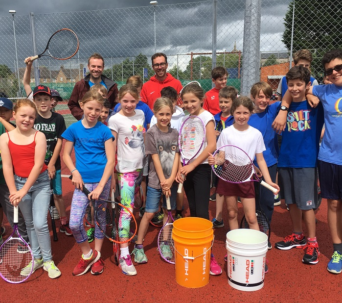 Wells club has busiest ever Great British Tennis day